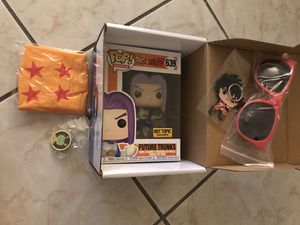 Future trunks capsule corp box : dragonball z funko pop for Sale in Miami, FL