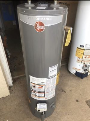 Rheem 40 gallon gas hot water heater tank. Great condition tall water heater. Still has 3 year manufacturer warranty Can deliver or install for a add for Sale in Philadelphia, PA