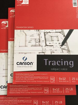 Art supply: Canson 9x12 tracing paper 25lb for Sale in New York, NY