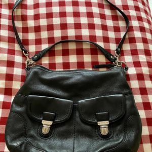 Coach Purse (Black Leather) for Sale in Kirkland, WA