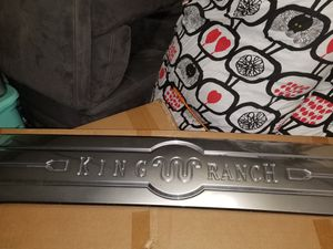 F150 KING RANCH TAILGATE PLAQUE for Sale for sale  Paterson, NJ
