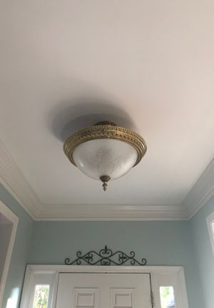 Set of Gold color light fixtures/chandelier for Sale in Purcellville, VA