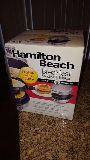 Brand New Hamilton Beach Breakfast Sandwich Maker for Sale in Arlington, VA