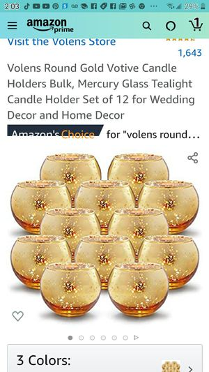 Round gold votive candles for Sale in Las Vegas, NV