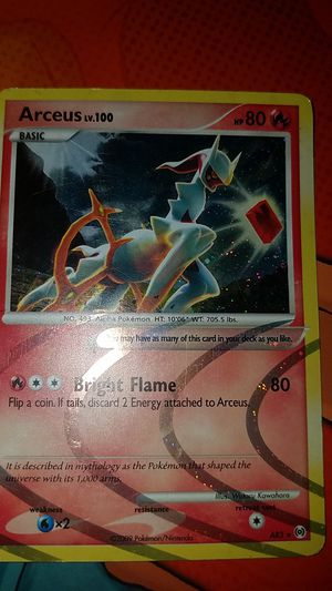 Fire Arceus 2009 for Sale in Glenville, NY