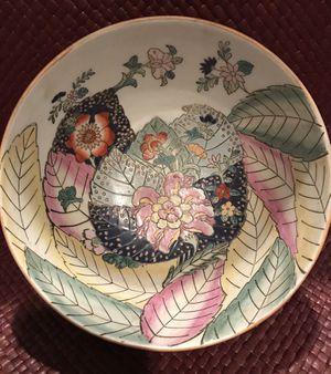 Vintage porcelain Asian leaf and flower bowl for Sale in Silver Spring, MD