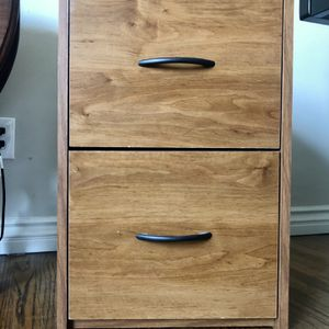 2-Drawer Filing Cabinet (Light Brown) for Sale in Long Beach, CA