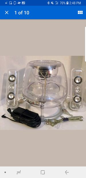 Virtual Reality Sound VRS2.1C Powered Subwoofer VR3 Clear w/ Two Speakers for Sale in Midlothian, VA