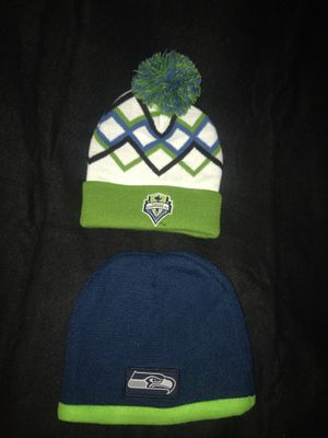 Selling New Sounders and Seahawks Hats (Both for $20) for Sale in Lynnwood, WA