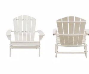 Hampton Bay Classic White Folding Wooden Adirondack Chair (2-Pack) for Sale in Umatilla,  FL
