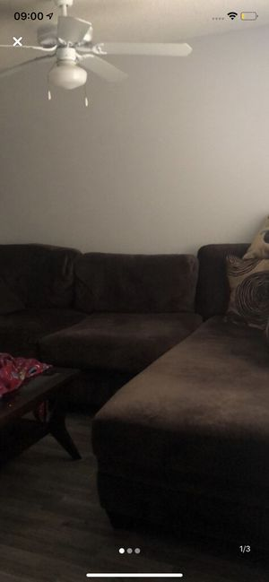 Brown sectional couch for Sale in Pensacola, FL