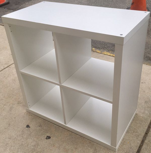 White 2x2 Cubby Bookcase