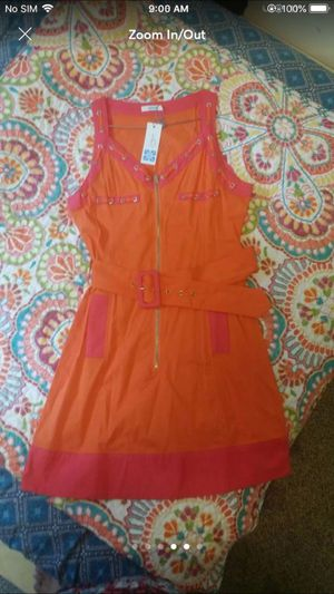Summery bright orange neon dress outfit top women's clothes size M for Sale in Silver Spring, MD