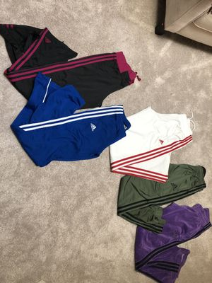 Women's assorted Adidas and Under Armour track pants Sizes: XS-MD for Sale in Lakewood, CO
