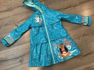 Disney Store Moana raincoat kids size 5-6 years for Sale in Glendora, CA