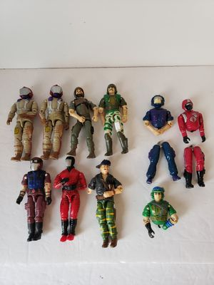 Vintage 1980's gi Joe's with stands for Sale in Glendale, AZ