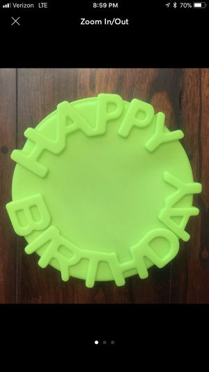 Happy Birthday Silicone cake Jello Mold for Sale in Fontana, CA