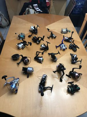 (21) 13 New/8 Used Fishing Reels NEW LINE spun on all New Reels SHAKESPEARE/ Offshore Angler Power Plus Reel Anti-Reverse 3-bearing and also Penn Ree for Sale in Pembroke Pines, FL