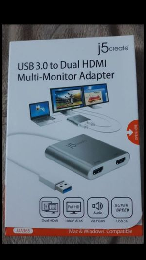 USB 3.0 to dual HDMI Multi-monitor Adapter for Sale in Lynn, MA