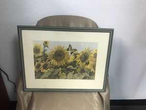 Beckendorf Signed Number Print Butterfly and 🌻 for Sale in Fort Worth, TX