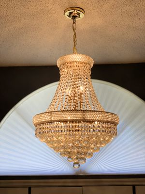 Crystal empire chandelier for Sale in Dover, FL