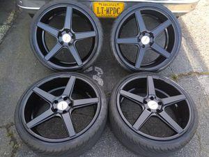 20 kMC rims 5x114 bolt pattern tires good 80% life for Sale in Manassas, VA