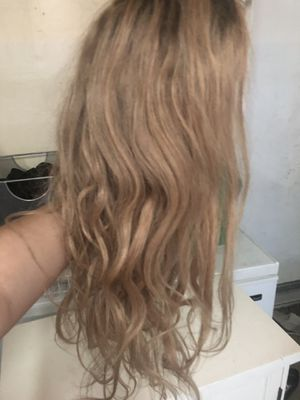 Golden blonde 18in human lace front wig for Sale in Delhi, CA