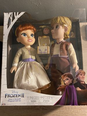"""Frozen 2 Anna & Kristoff 14"""" dolls $45 brand new never opened for Sale in Westminster, CA"""
