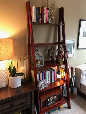 Brand New Cherry Wood Ladder Shelf (New in Box) for Sale in Silver Spring, MD