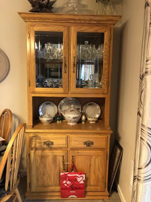 Solid wood hutch for Sale in Sumner, WA