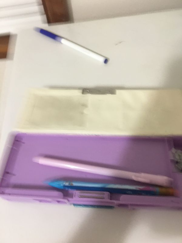 Cute owl pencil / pen box with stand