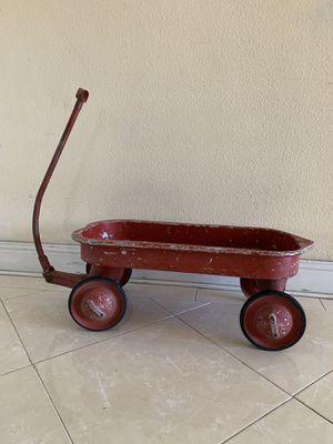 Wagon Rare Antique Pull Wagon Pedal Car Patina Aluminum Classic Americana for Sale in Stanton, CA