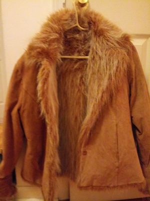Brandon Thomas coat. 100% leather Sable color for Sale, used for sale  Queens, NY