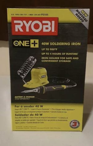 RYOBI 18V ONE+ 40-Watt Soldering Iron (Tool-Only) for Sale in St. Petersburg, FL