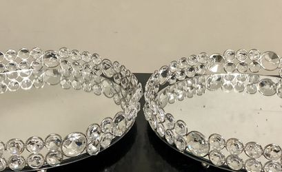 """Crystal Mirror Vanity Tray 10"""" NEW $20/each for Sale in Mokena,  IL"""
