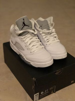 Air Jordan 5 Metallic White for Sale in West Palm Beach, FL