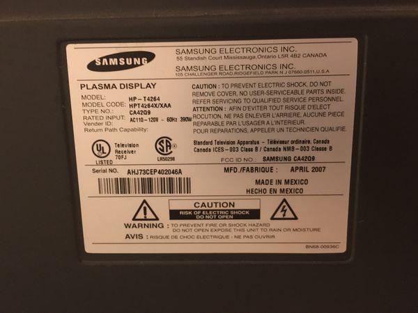 "FREE: Samsung Plasma TV 43"""