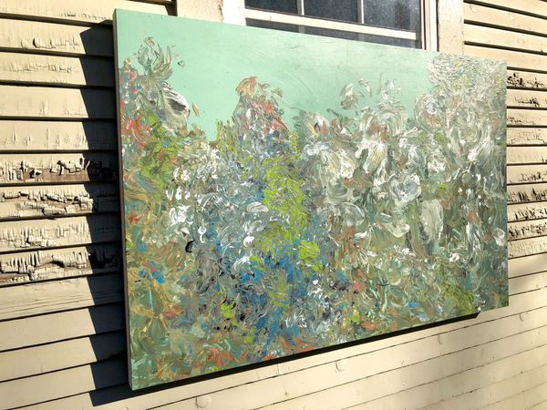 Original Large Abstract Floral Painting