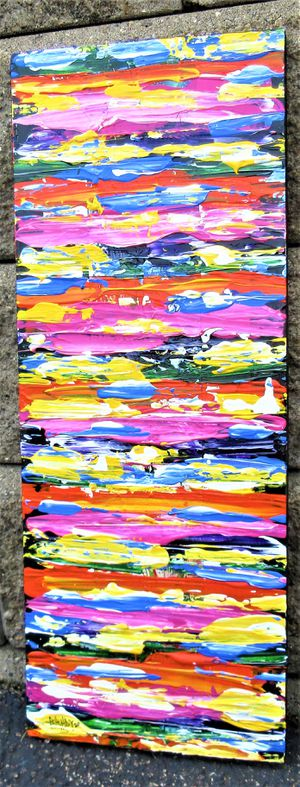24x9.5 ORIGINAL SIGNED PAINTING. PAINT ON BOARD. BRACKETS APPLIED ALLOWING TO HANG EITHER WAY! for Sale in Cincinnati, OH