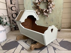 Antique baby doll cradle given a new modern look for Sale in Piedmont, SC