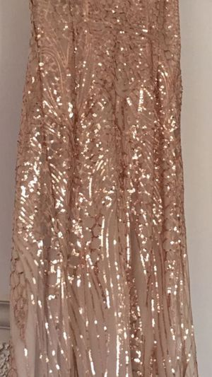 rose gold sequin prom dress for Sale in Hemet, CA