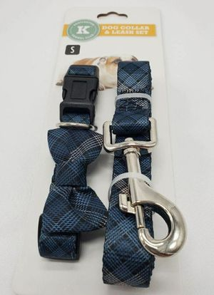 Dog Collar & leash Set 2 Pieces, Kensington Kennel Club, Size S , Blue Color for Sale in Orlando, FL