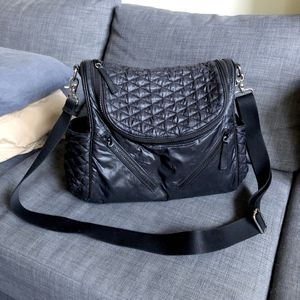 Rebecca Minkoff Jude Black Quilted Diaper Bag with Changing Pad for Sale in Reston, VA