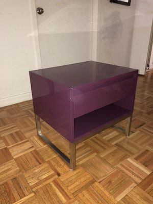Gus Modern Purple Lacquer End Table for Sale in New York, NY
