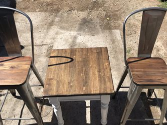 Pair Of Metal/ Wood And Table for Sale in San Diego,  CA