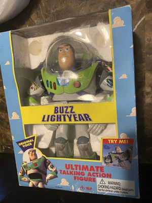 Toy Story Buzz Lightyear Ultimate Talking Action Figure Thinkway 1995 for Sale in West Dundee, IL