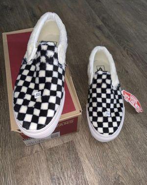 Faux Fur Checkered Vans for Sale in Phoenix, AZ