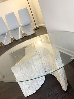 45 Inch Glass Collectible Art Coffee Table for Sale in Atlanta,  GA
