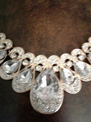 Rhinestone necklace and earrings. for Sale in Roswell, GA