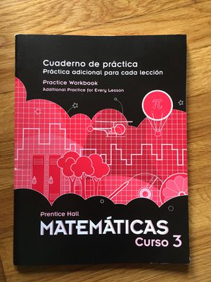 Cuaderno de practica curso 3 mathematicas for Sale in Newport News, VA